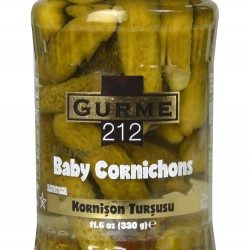 Gurme212 Baby Cornishon Pickles 370 gr