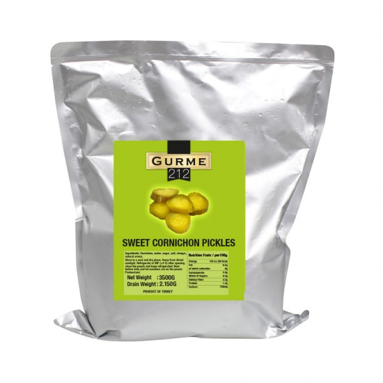 Gurme212 Pickled Cucumbers (Sliced) 4000 gr