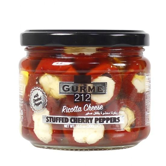 Gurme212 Cherry Pepper stuffed w/Ricotta Cheese 300 gr