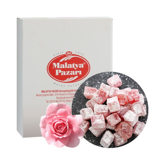 Malatya Pazari Turkish Delight with a rose of 3kg