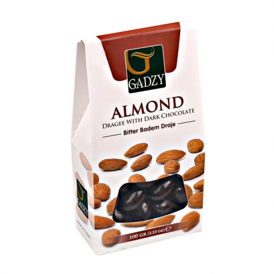 Dragees w/ Almonds Covered With Dark Chocolate 3 kg