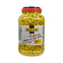 Gurme 212 Pickled Hot Peppers Baby 3785 gr