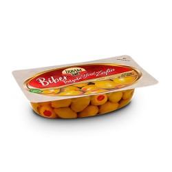Ikram Green olives with pepper 200 gr