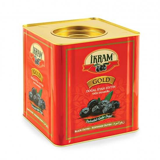 Ikram Black Olives Natural Sele Gold (261-320) 10 kg