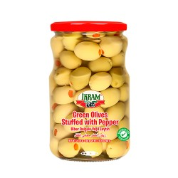 Ikram Green Olives stuffed w/Peppers 700 gr