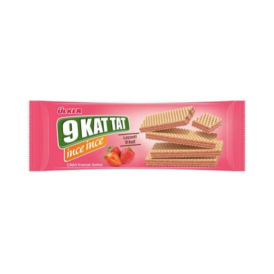 Ulker 9 Kat Tat Waffle Strawberry 114 gr