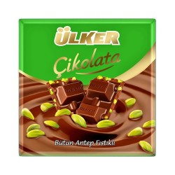 Ulker Milk chocolate with pistachios 70 gr